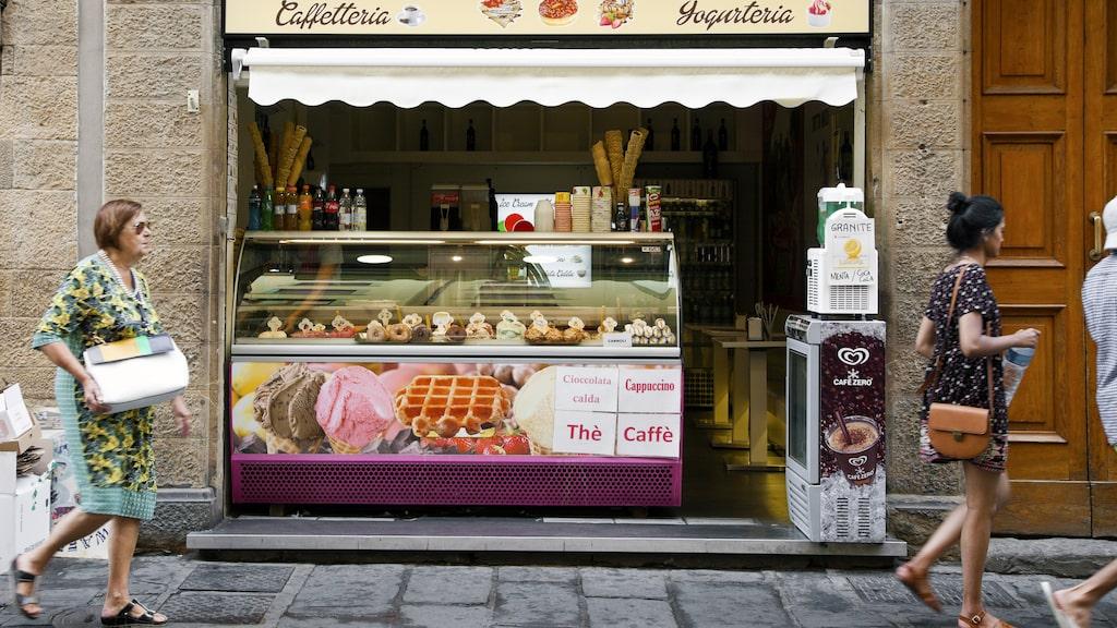 Sötsugna kan köpa utsökt gelato på flera ställen i Florens.