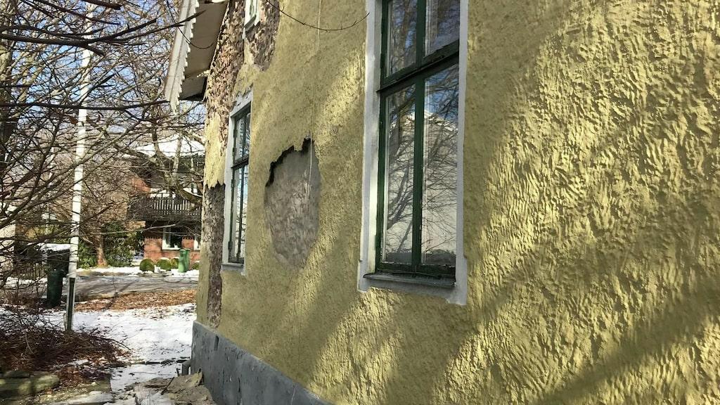 Det finns två entréer till huset – en från gatan och en från trädgården.
