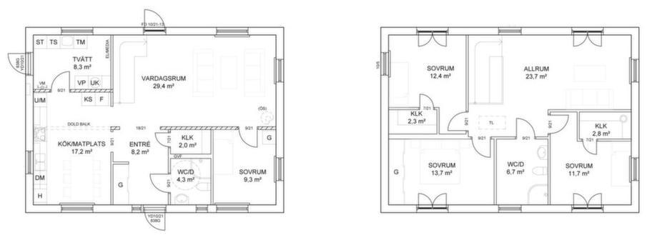 Fakta<br>Namn: Fridhem 162<br>Typ: 2-planshus med sex rum och kök på 162 kvm.<br>Pris: Byggsats 2 589 500 kronor. 15 984 krobor kvadratmetern.<br>Husföretag: Ekeforshus ekeforshus.se