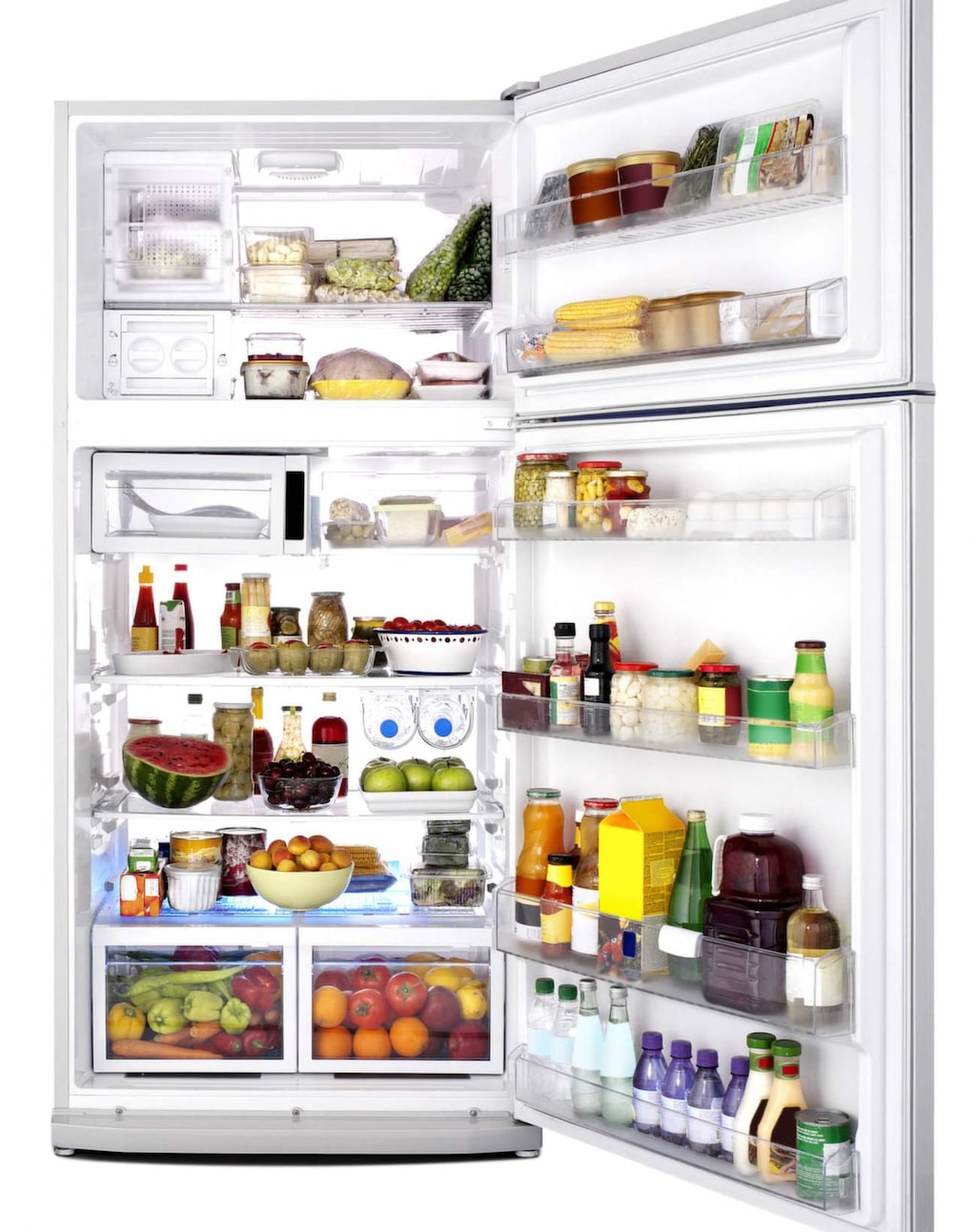 Den värsta platsen i kylskåpet är grönsakslåda, som i ett test hade från 8 000 ända upp till 129 000 bakterier per kvadratcentimeter.