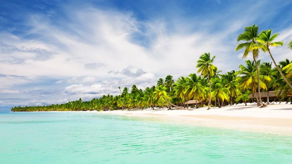 Punta Cana i Dominikanska republiken, en av Karibiens många paradisstränder.