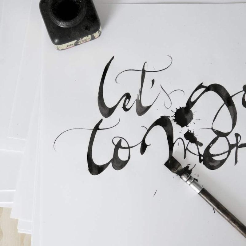 Kalligrafi är konsten att skriva vackert eller skrivandet som konst.
