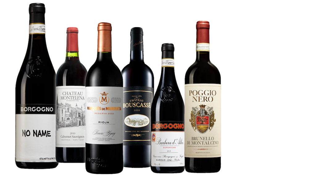 6 röda viner  som är prisvärda.