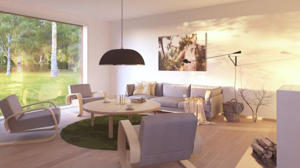 Svenskarnas favoritfärg på väggarna är vit, och i vardagsrummet står helst en grå soffa.