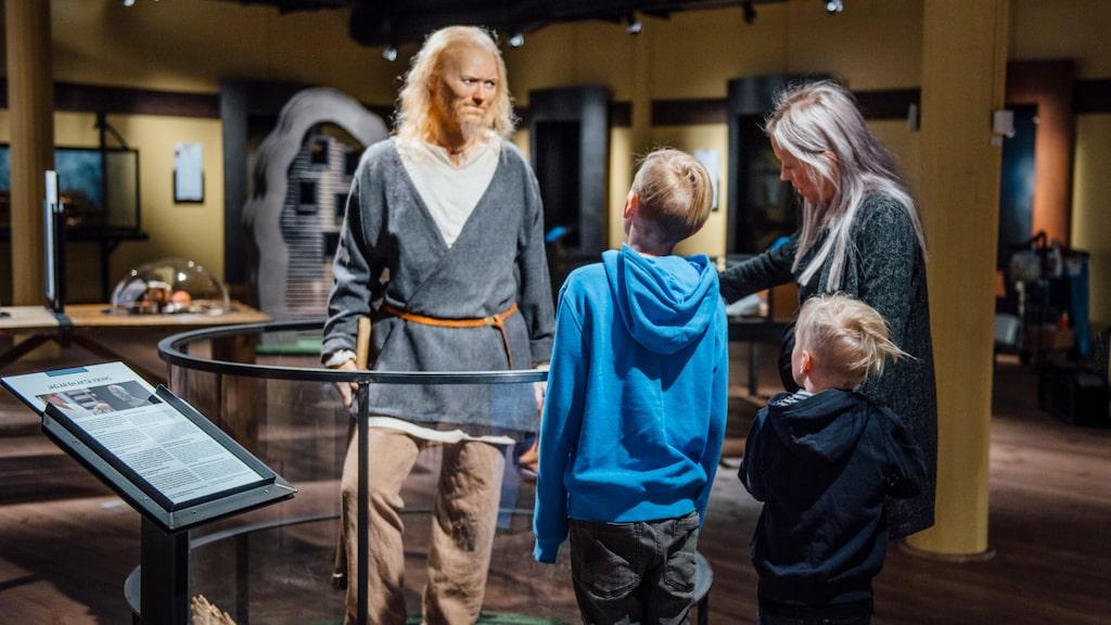 Leifur är ett försök att återskapa en typisk mansfigur från vikingatiden.