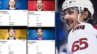 NHL 18  Bästa spelarna • Spelarnas rating har släppts 522fb6014df3d