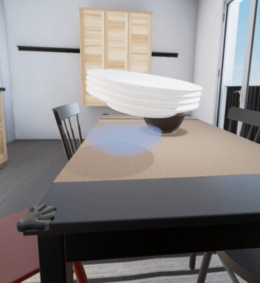 Laga mat och duka i ditt virtuella kök. Med den andra appen kan man gå omkring i en virtuell version av sitt eget planerade Ikea-kök.