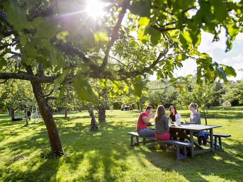 Rosendals trädgård mitt på Djurgården har en av Stockholms mysigaste uteserveringar.