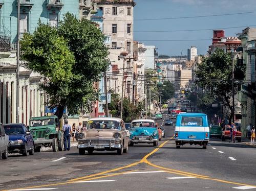 Ett mindre turisttrångt Havanna möter man i Vedado.