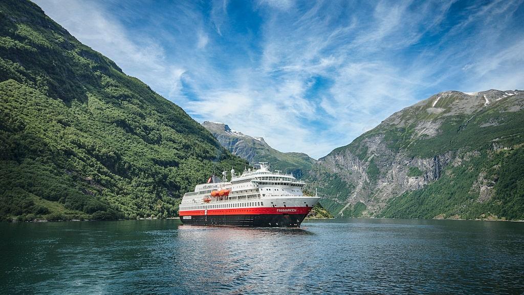 Ms Otto Sverdrup är ett av Hurtigrutens fartyg som kommer att utrustas med hybriddrift.