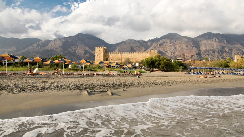 Borgen Frangokastello ligger på Kretas sydkust.