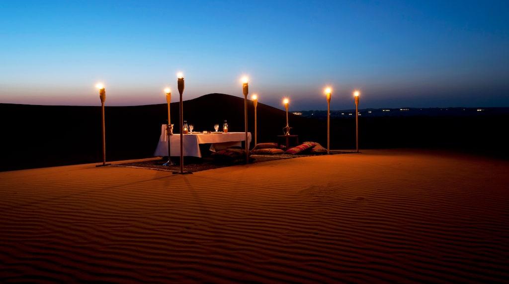 Al Maha ligger i öknen i Dubai.