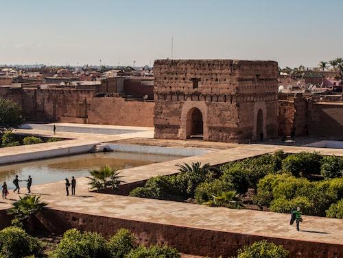 El Badipalatset från 1578 ligger nu till stora delar i ruiner, men är fortfarande en storslagen syn.