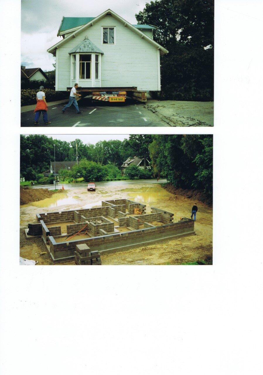 """""""Nya tomten med extra hög grund för att kunna dra alla vattenrör till elementen under huset så dom inte behövde dras inne längs med väggarna"""", säger Rebecca."""