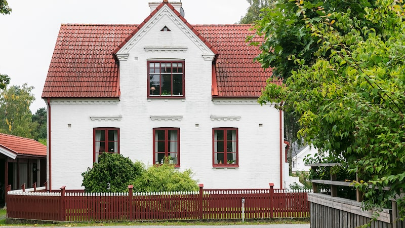 Paret föll direkt för huset i Åhus, byggt 1912.