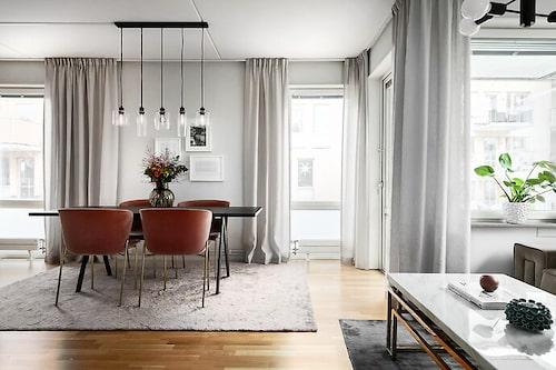 Utgångspriset för lägenheten i Norra Djurgårdsstaden var 4,1 miljoner kronor.