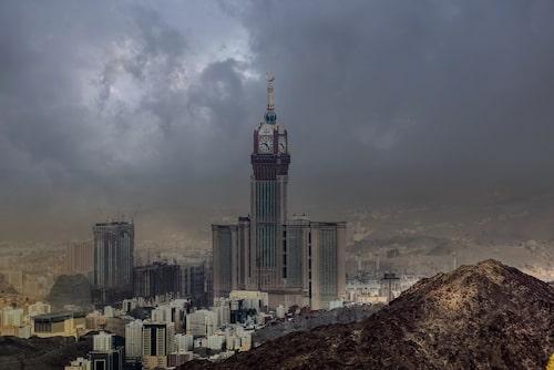 Klocktornet med världens största urtavla.