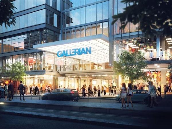 Visionsbild av Nya Gallerian.