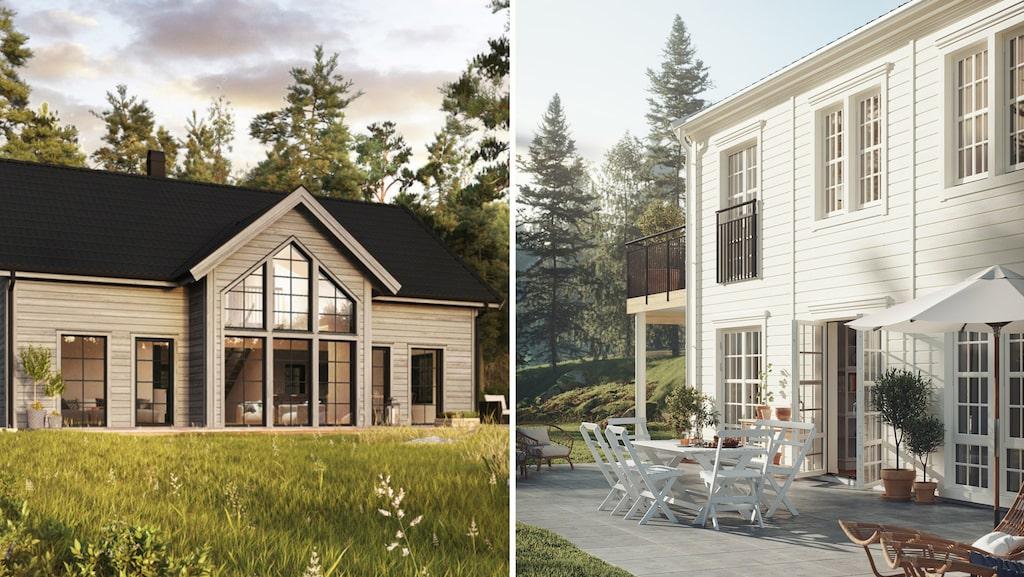 Funderar du på att bygga hus? Här är några villor att inspireras av. Läs mer om Villa Storsjö från Trivselhus, Midnattssol från Myresjöhus och många andra villor här nedan.