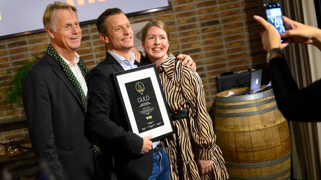 Terrific Wines drivs av en engagerad trio, från vänster Lars Torstenson, Andreas Karlsson och Anna Sundin. Här på Allt om Vins prisutdelning i början av december,