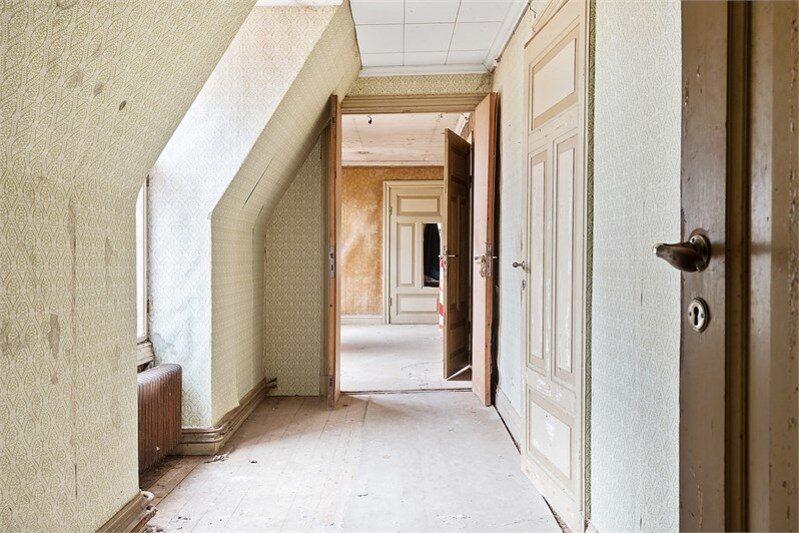 En av flera spöklika korridorer...