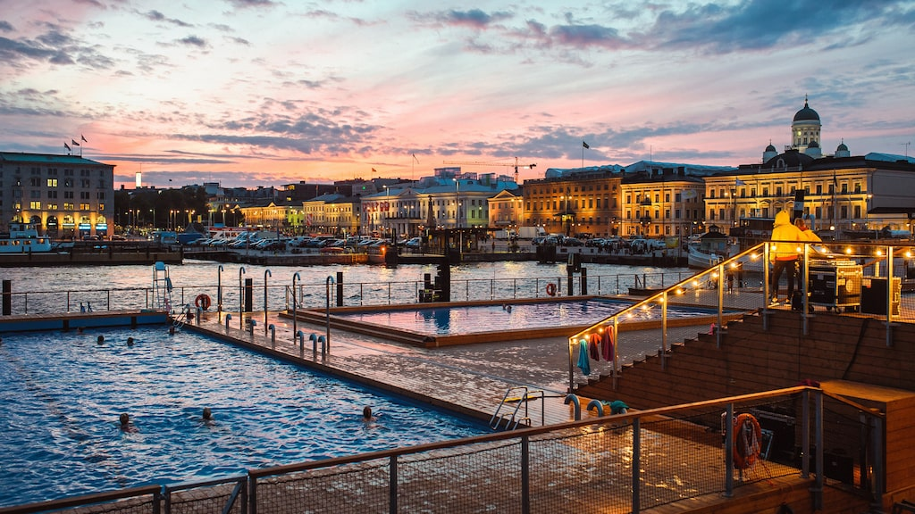 Allas Sea Pool är en perfekt plats för bastu och bad.