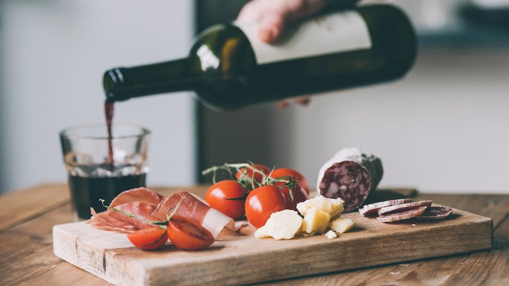 Vin passar utmärkt till kallskuret från Italien.