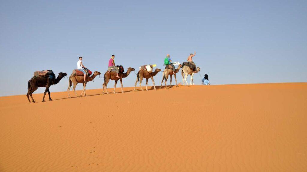 Den största upplevelsen av alla är att ge sig ut på en längre eller kortare kamelritt med berberna i Sahara.