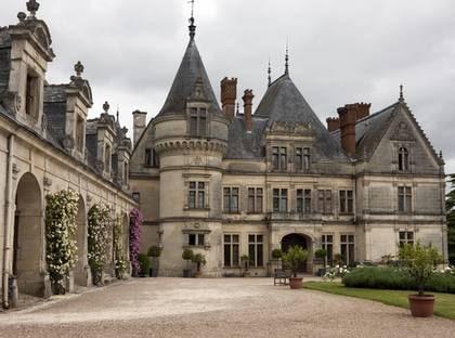 Slottet La Bordelaise i Loiredalen har egen trädgårdsodling med gammaldags grönsaker.