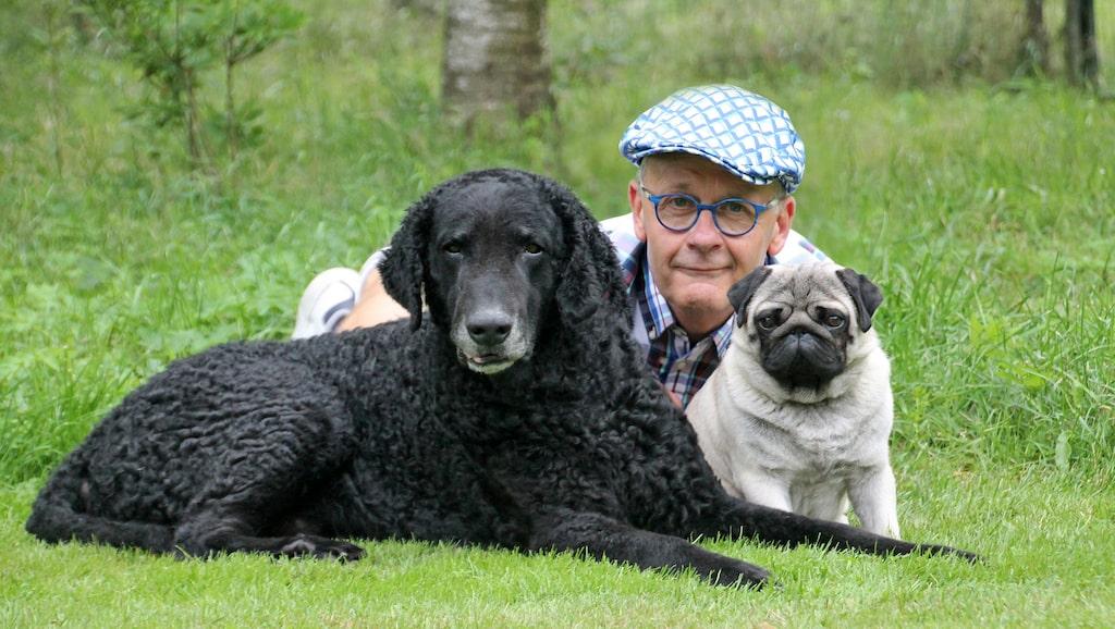 """Inkallning är en annan viktig sak: """"Där kan du börja träna hunden direkt när du får hem den"""", säger Hans Rosenberg, presstalesperson på Svenska kennelklubben, här tillsammans med Ecko och Ryssen."""