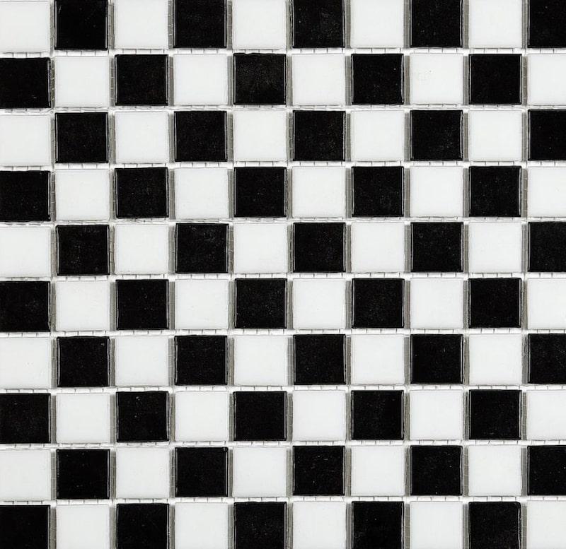 Det klassiska schackmönstret, cirka 616 kronor per kvadratmeter, Golvabia.