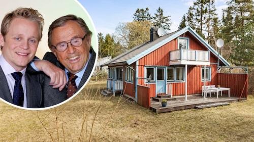 Tv-profilen Arne Weise, här tillsammans med sonen Andreas Weise, gick bort 2019 och barnen bestämde sig för att sälja sommarhuset de fick ärva på Blidö.