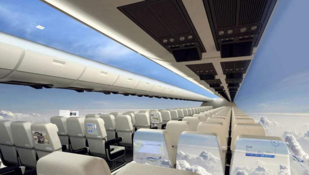 """Företaget Centre for Process Innovation (CPI) hoppas på att bli bland de första att designa ett flygplan utan fönster.<br><a href=""""http://www.uk-cpi.com/windowless-fuselage/#.VE99e4c5XoP"""" target=""""_blank"""">Foto: uk-cpi.com</a>"""