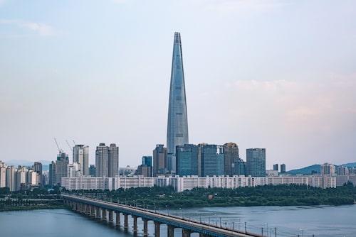 Lotte World Tower, högst i Sydkorea.