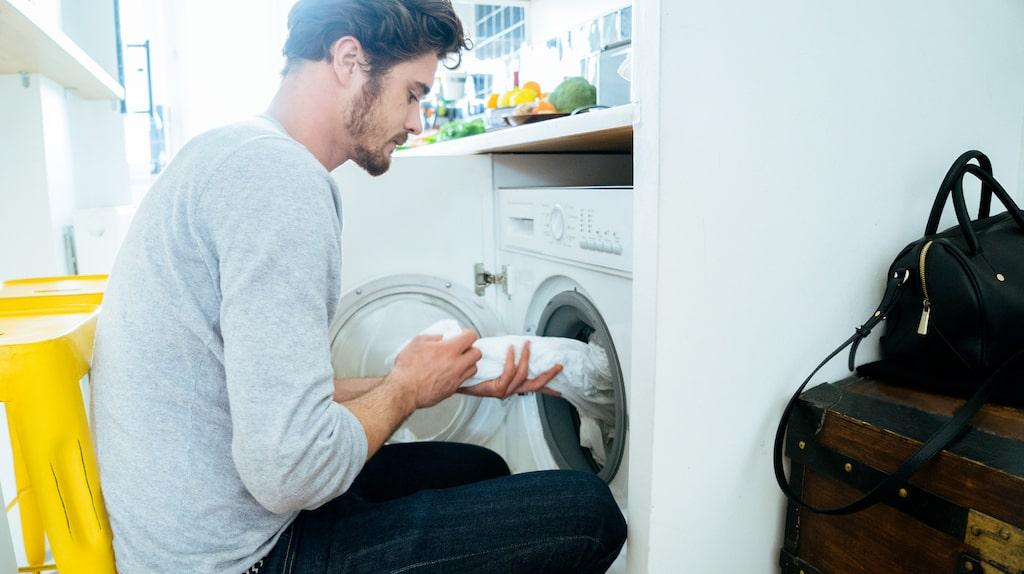 Tvätta inte sängkläder tillsammans med handdukar...