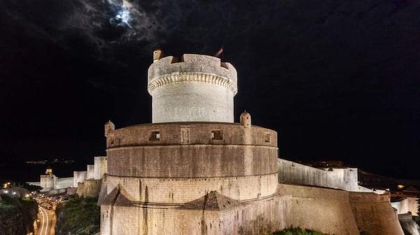 Dubrovniks stadsmur, Kroatien.