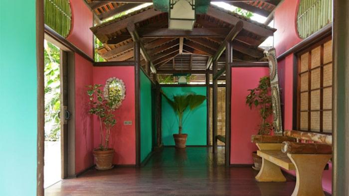 Entrén till Jaggers Japan-inspirerade semesterhus på ön Mustique.