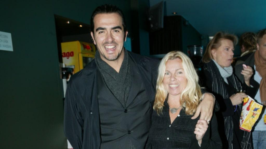 Görel Crona och Rafael Edholm var ett par i många år. Här på filmpremiär 2004.
