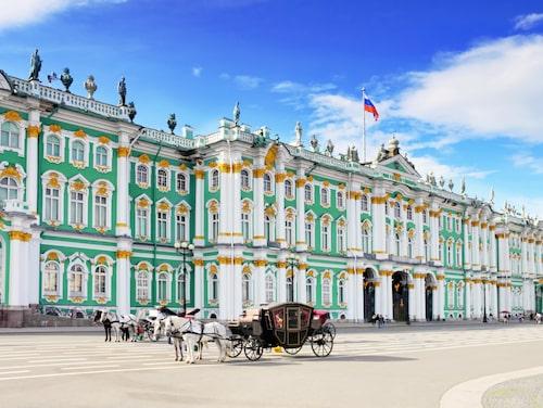 Eremitaget, ett av Sankt Petersburgs mest kända landmärken.