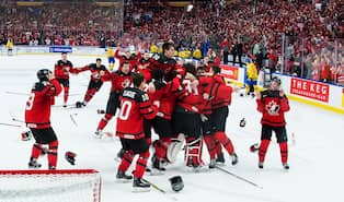 Kanada jublar efter finalsegern mot Sverige i JVM 2018. Foto  JOEL MARKLUND    BILDBYRÅN be5af5befa820