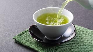 grönt te uppiggande