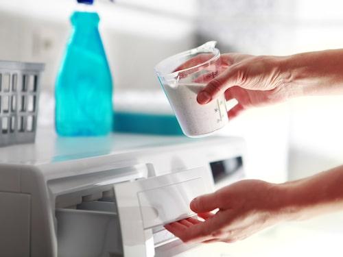 Att ha tvättmedel för vita textilier är viktigt. Använd bara tvättmedel avsett för den specifika färgen.
