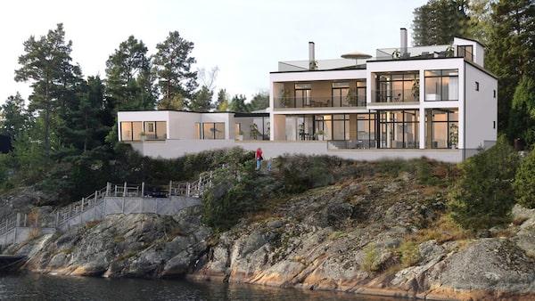 Nyproducerad villa på Värmdö för 30 miljoner kronor.