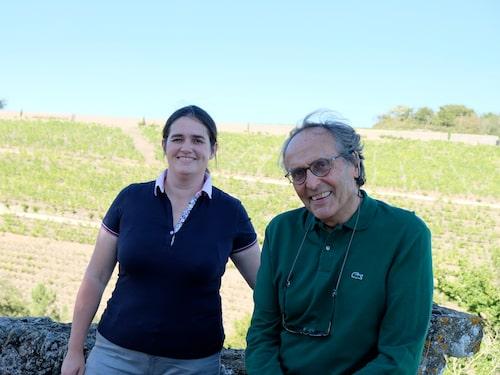 Far och dotter Joly Virginie och Nicolas. De båda utvecklar hela tiden det biodynamiska arbetet i vingårdar och källare.