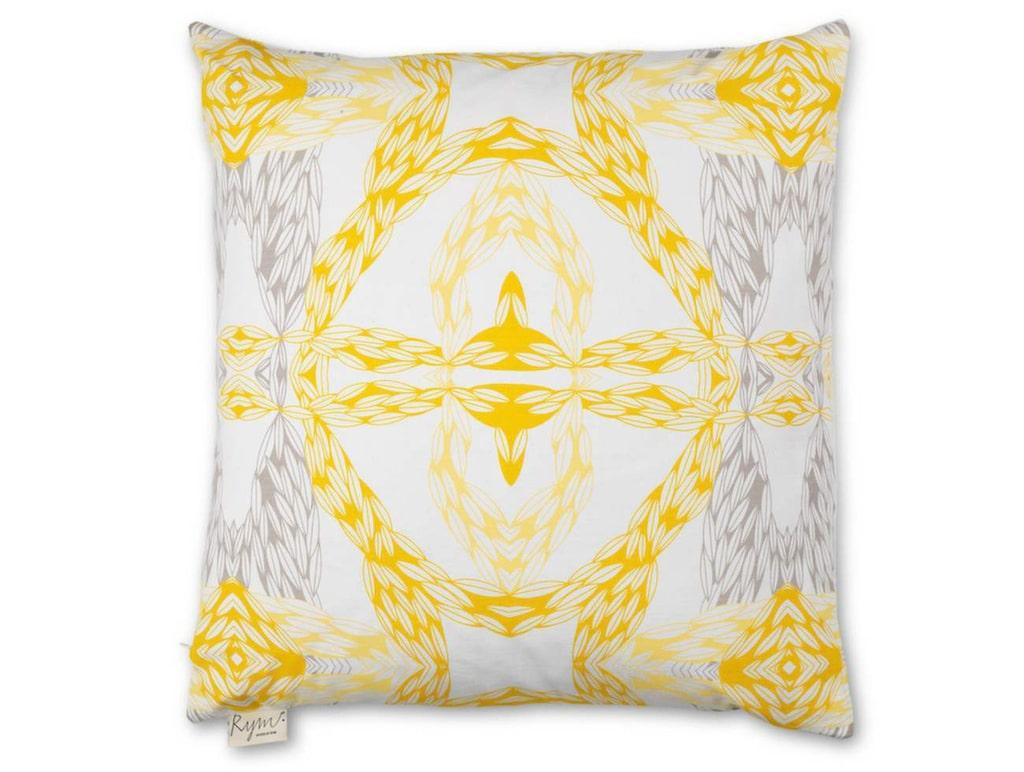 Gult och mönstrat. Kuddfodral Cover me up, 50x50 centimeter, 350 kronor, House Of Rym.