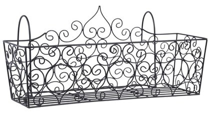 4 Avlång. Kruka i metalltråd för flera blommor, 27x50x24 cm, Indiska.