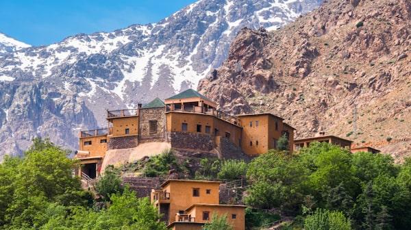 Byn Imlil ligger cirka sex mil från Marrakech.