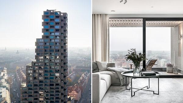 Penthouse i Norra tornen i Stockholm. Pris: 45 miljoner kronor.