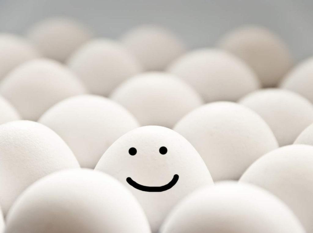 Äggvitemask. Proteinet i ägget hjälper till att reparera