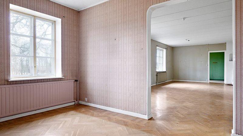 Matrummet med valv till vardagsrummet.